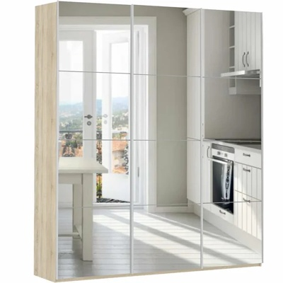Шкаф Прайм 3-дверный (зеркало) ш 2100