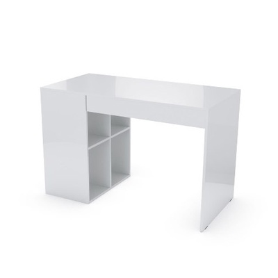 Стол компьютерный №14 (Белый глянец)